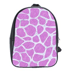 Skin1 White Marble & Purple Colored Pencil (r) School Bag (xl) by trendistuff