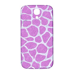 Skin1 White Marble & Purple Colored Pencil (r) Samsung Galaxy S4 I9500/i9505  Hardshell Back Case