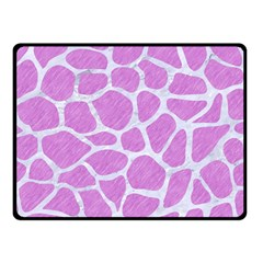 Skin1 White Marble & Purple Colored Pencil (r) Double Sided Fleece Blanket (small)