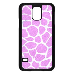 Skin1 White Marble & Purple Colored Pencil (r) Samsung Galaxy S5 Case (black)