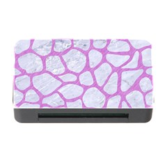 Skin1 White Marble & Purple Colored Pencil Memory Card Reader With Cf