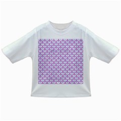 Scales3 White Marble & Purple Colored Pencil (r) Infant/toddler T Shirts