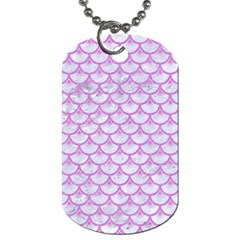 Scales3 White Marble & Purple Colored Pencil (r) Dog Tag (one Side)