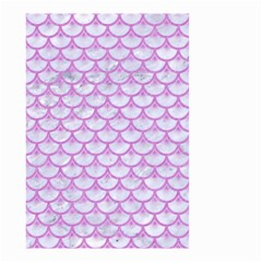 Scales3 White Marble & Purple Colored Pencil (r) Small Garden Flag (two Sides)