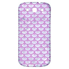 Scales3 White Marble & Purple Colored Pencil (r) Samsung Galaxy S3 S Iii Classic Hardshell Back Case