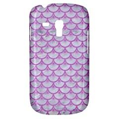 Scales3 White Marble & Purple Colored Pencil (r) Galaxy S3 Mini