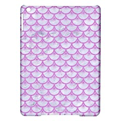Scales3 White Marble & Purple Colored Pencil (r) Ipad Air Hardshell Cases