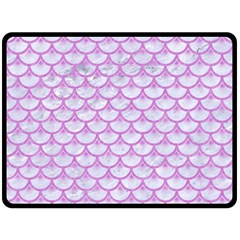 Scales3 White Marble & Purple Colored Pencil (r) Double Sided Fleece Blanket (large)