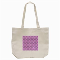 Scales3 White Marble & Purple Colored Pencil Tote Bag (cream)