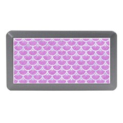 Scales3 White Marble & Purple Colored Pencil Memory Card Reader (mini) by trendistuff