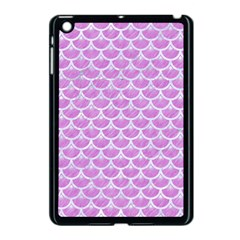 Scales3 White Marble & Purple Colored Pencil Apple Ipad Mini Case (black) by trendistuff