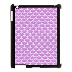 Scales3 White Marble & Purple Colored Pencil Apple Ipad 3/4 Case (black)