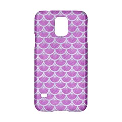 Scales3 White Marble & Purple Colored Pencil Samsung Galaxy S5 Hardshell Case