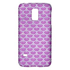 Scales3 White Marble & Purple Colored Pencil Galaxy S5 Mini