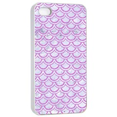 Scales2 White Marble & Purple Colored Pencil (r) Apple Iphone 4/4s Seamless Case (white)