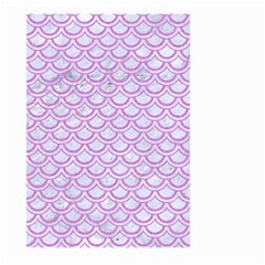 Scales2 White Marble & Purple Colored Pencil (r) Large Garden Flag (two Sides)
