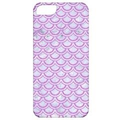 Scales2 White Marble & Purple Colored Pencil (r) Apple Iphone 5 Classic Hardshell Case
