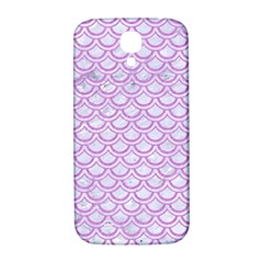 Scales2 White Marble & Purple Colored Pencil (r) Samsung Galaxy S4 I9500/i9505  Hardshell Back Case