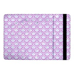 Scales2 White Marble & Purple Colored Pencil (r) Samsung Galaxy Tab Pro 10 1  Flip Case