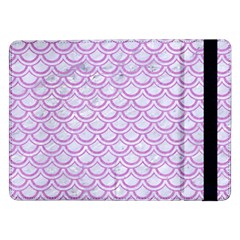 Scales2 White Marble & Purple Colored Pencil (r) Samsung Galaxy Tab Pro 12 2  Flip Case