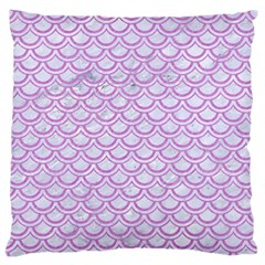 Scales2 White Marble & Purple Colored Pencil (r) Standard Flano Cushion Case (two Sides)