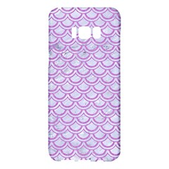 Scales2 White Marble & Purple Colored Pencil (r) Samsung Galaxy S8 Plus Hardshell Case
