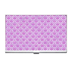 Scales2 White Marble & Purple Colored Pencil Business Card Holders