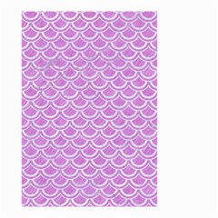 Scales2 White Marble & Purple Colored Pencil Small Garden Flag (two Sides)