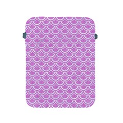 Scales2 White Marble & Purple Colored Pencil Apple Ipad 2/3/4 Protective Soft Cases