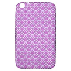 Scales2 White Marble & Purple Colored Pencil Samsung Galaxy Tab 3 (8 ) T3100 Hardshell Case