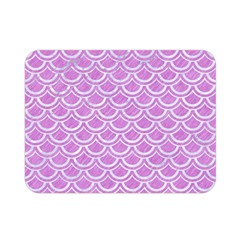 Scales2 White Marble & Purple Colored Pencil Double Sided Flano Blanket (mini)