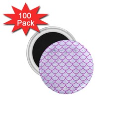 Scales1 White Marble & Purple Colored Pencil (r) 1 75  Magnets (100 Pack)