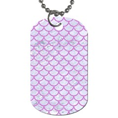 Scales1 White Marble & Purple Colored Pencil (r) Dog Tag (one Side)