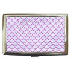 Scales1 White Marble & Purple Colored Pencil (r) Cigarette Money Cases