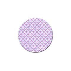 Scales1 White Marble & Purple Colored Pencil (r) Golf Ball Marker (4 Pack)