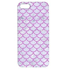 Scales1 White Marble & Purple Colored Pencil (r) Apple Iphone 5 Hardshell Case With Stand