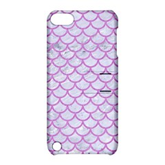 Scales1 White Marble & Purple Colored Pencil (r) Apple Ipod Touch 5 Hardshell Case With Stand