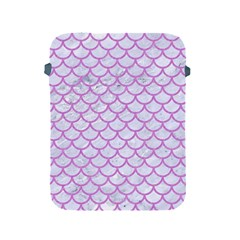 Scales1 White Marble & Purple Colored Pencil (r) Apple Ipad 2/3/4 Protective Soft Cases