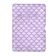 Scales1 White Marble & Purple Colored Pencil (r) Samsung Galaxy Tab 2 (10 1 ) P5100 Hardshell Case