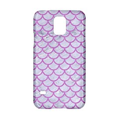 Scales1 White Marble & Purple Colored Pencil (r) Samsung Galaxy S5 Hardshell Case