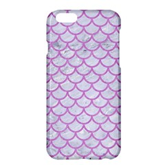 Scales1 White Marble & Purple Colored Pencil (r) Apple Iphone 6 Plus/6s Plus Hardshell Case
