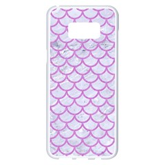 Scales1 White Marble & Purple Colored Pencil (r) Samsung Galaxy S8 Plus White Seamless Case by trendistuff