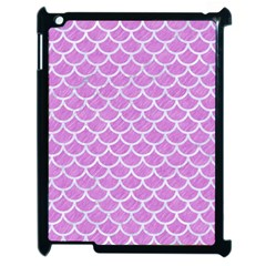 Scales1 White Marble & Purple Colored Pencil Apple Ipad 2 Case (black)