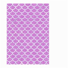 Scales1 White Marble & Purple Colored Pencil Small Garden Flag (two Sides)