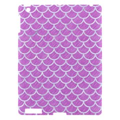 Scales1 White Marble & Purple Colored Pencil Apple Ipad 3/4 Hardshell Case