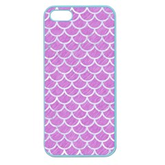 Scales1 White Marble & Purple Colored Pencil Apple Seamless Iphone 5 Case (color)