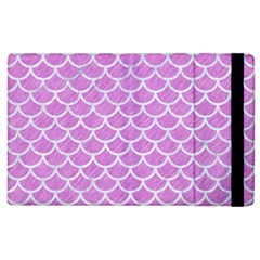Scales1 White Marble & Purple Colored Pencil Apple Ipad 2 Flip Case by trendistuff