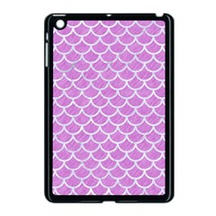 Scales1 White Marble & Purple Colored Pencil Apple Ipad Mini Case (black) by trendistuff
