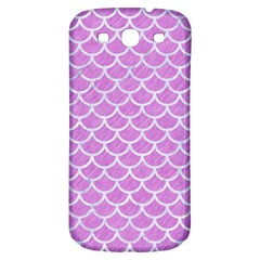 Scales1 White Marble & Purple Colored Pencil Samsung Galaxy S3 S Iii Classic Hardshell Back Case