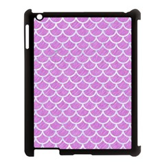 Scales1 White Marble & Purple Colored Pencil Apple Ipad 3/4 Case (black)